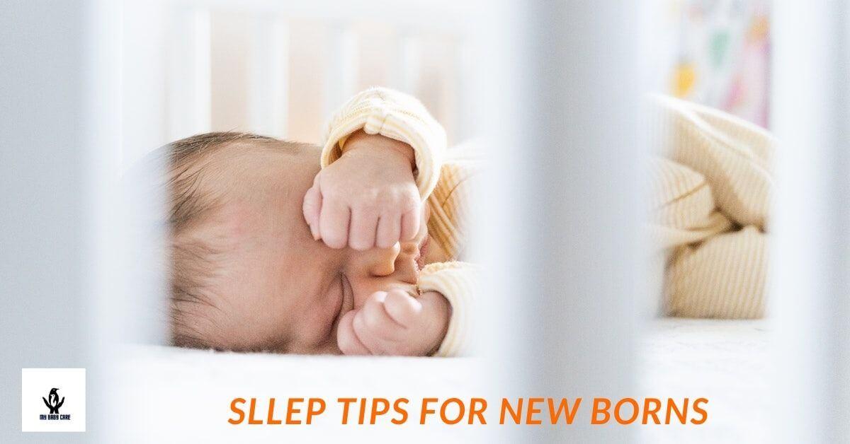 cute newborn sleeps tightly