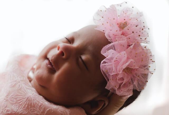 cute neborn sleep tightly